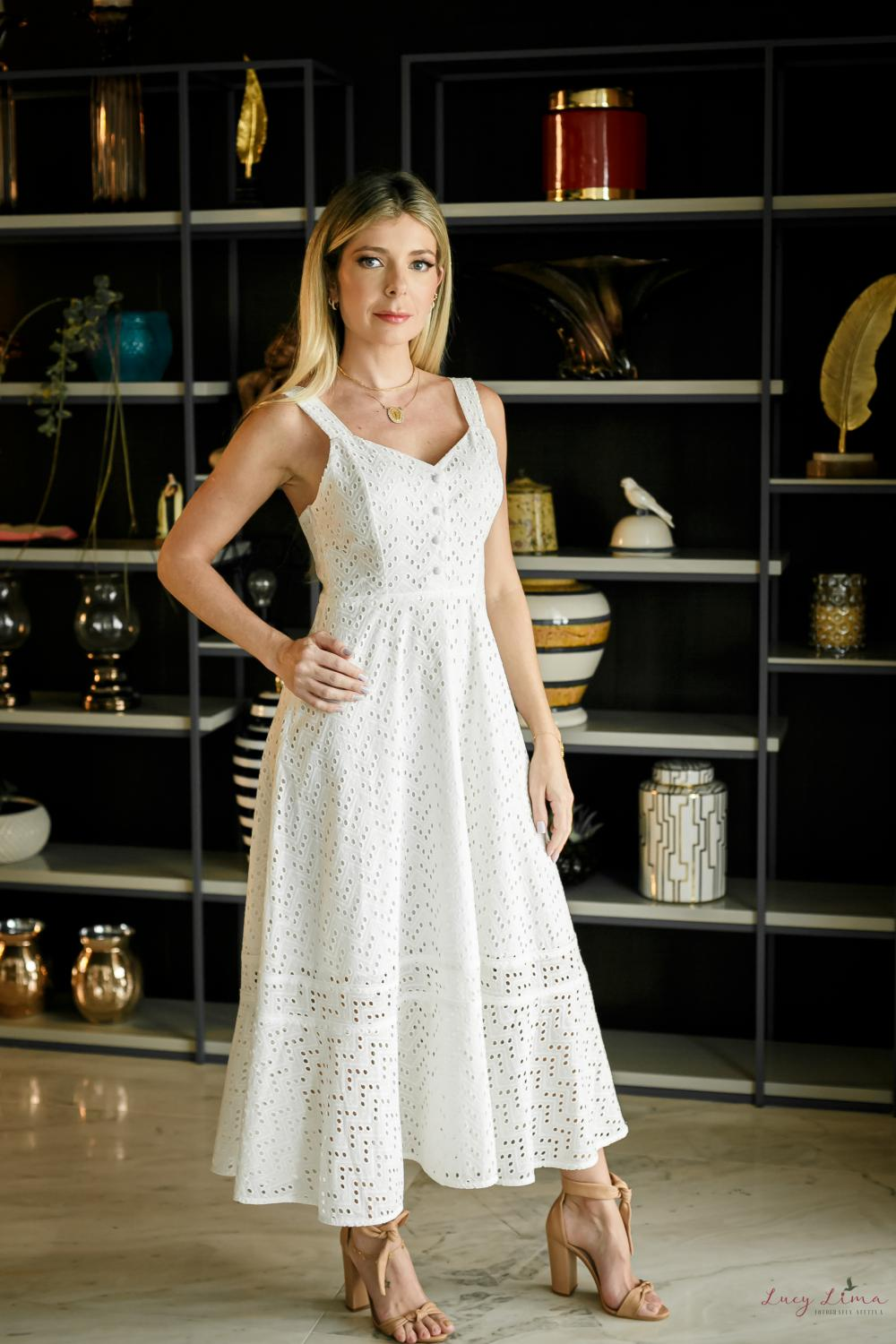 Vestido Lunna Off White Adulto